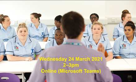 Adult Nursing Event (Yr 12 & 13, 24th March 2-3pm) Get your place by 17/3!
