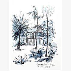 Corner House - Botanic Gardens Black & White House