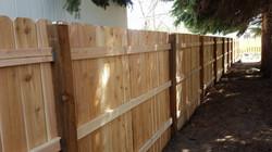 Cedar six foot privacy fence