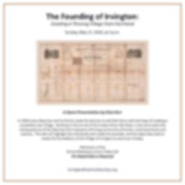 The Founding of Irvington flier.jpg