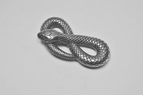 Snake; Stering Silver Broach