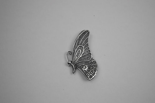 Close Butterfly; Sterling Silver Broach