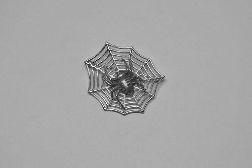 Spider; Sterling Silver Broach