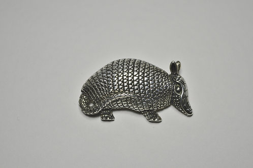 Armadillo; Sterling Silver Broach