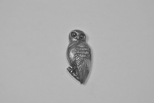 Owl; Sterling Silver Broach