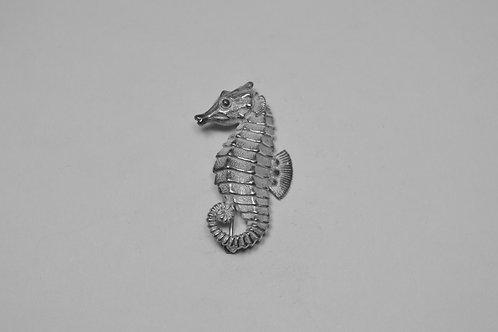 Sea Horse; Sterling Silver Broach