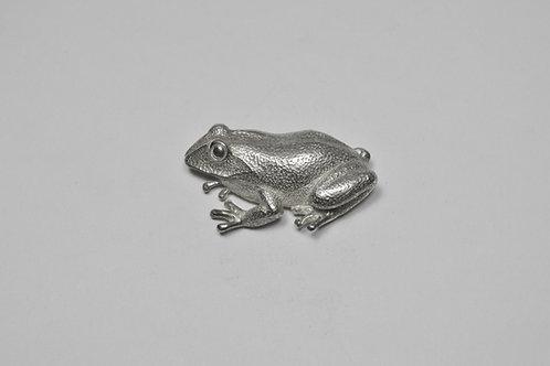 Frog; Sterling Silver Broach