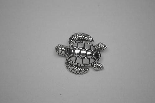 Sea Turtle; Sterling Silver Broach