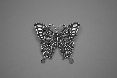 Open Butterfly; Sterling Silver Broach