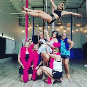 Bachelorette Party - Aerial Silks - Pole Dance - Live It Up Studio - Rapid City, SD
