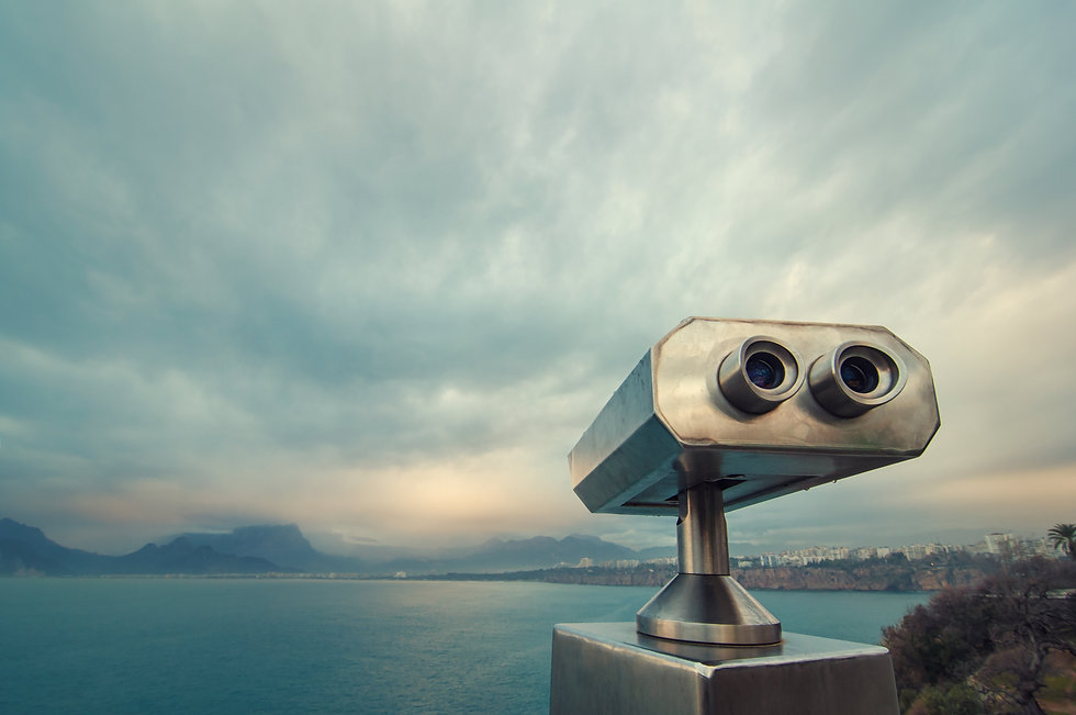 Coin Operated Binocular viewer next to t