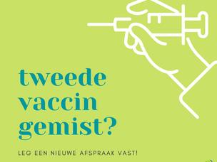 Tweede vaccin gemist?