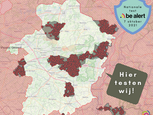 32 Limburgse gemeenten testen vandaag BE-Alert. En ook wij doen mee!