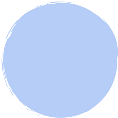 """""""Subscribe to the podcast"""" inside a medium blue circle"""