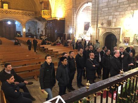 Con nuestro obispo por Cáceres