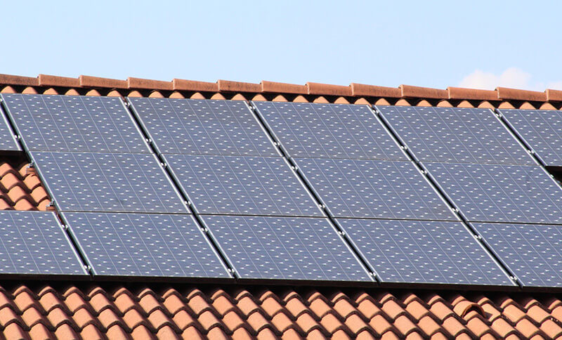 Solar PV installation on a house