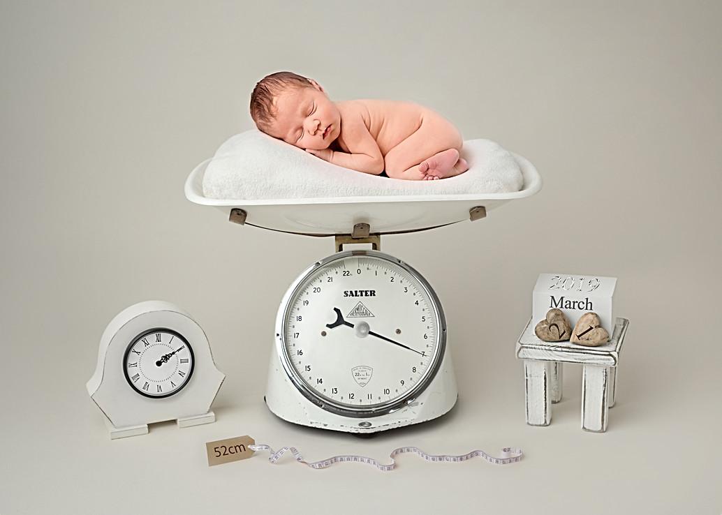 Newborn baby photo shoot wirral