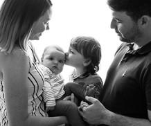 family backlit professional photoshoot