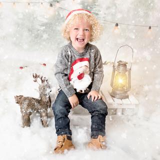 Snowy set up photoshoot xmas studio