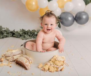 baby boys birthday photoshoot wirral