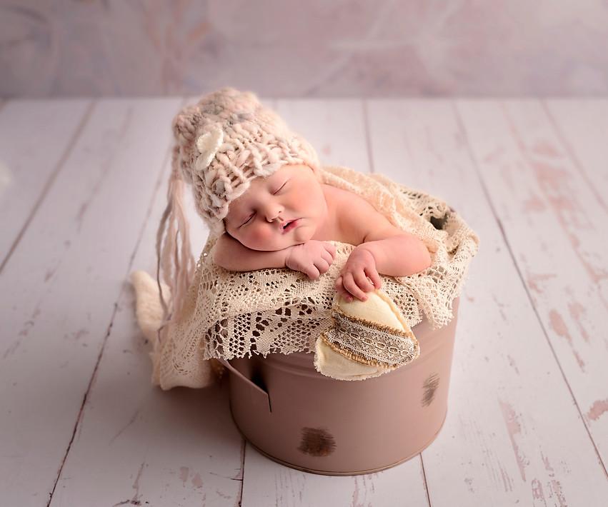 baby in bucket photos