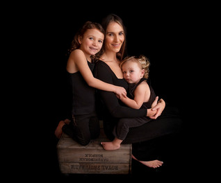 black backdrop family shoot wirral