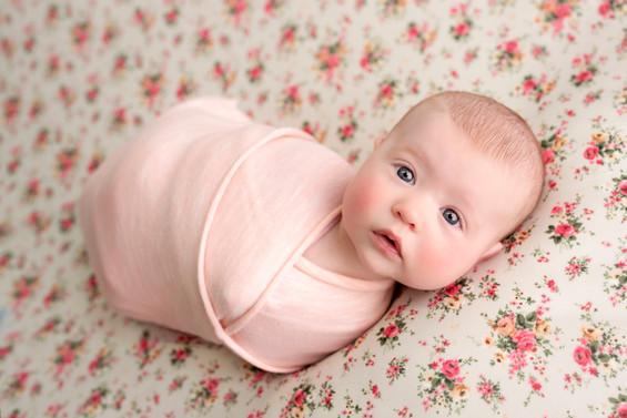 Awake baby 3 month old professional photography studio