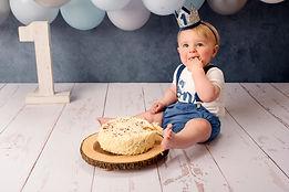 cake smash boy 1st birthday