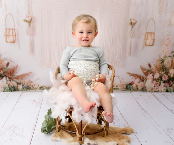 Boho style baby and child photoshoot wirral