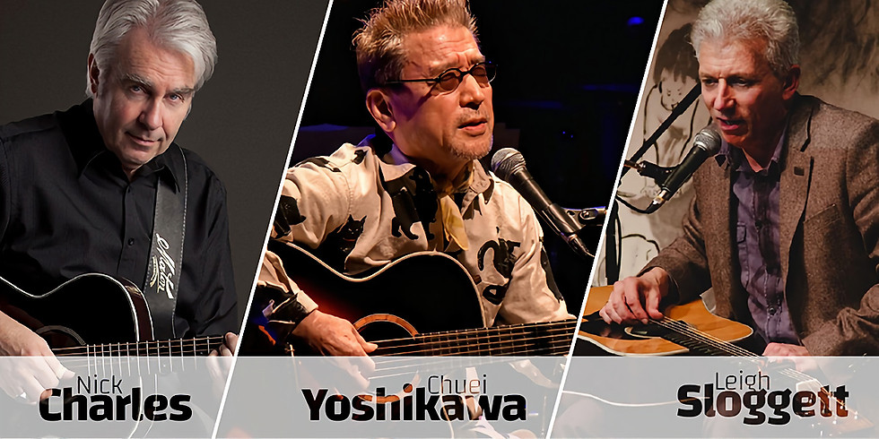 Chuei Yoshikawa, Nick Charles & Leigh Sloggett
