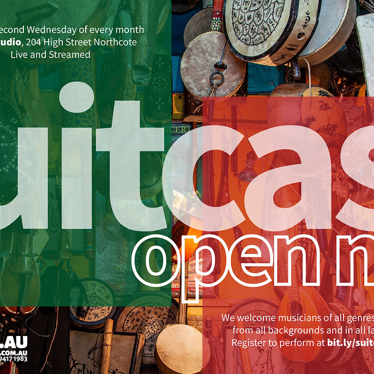 Suitcase Open Mic (Pay as you feel)