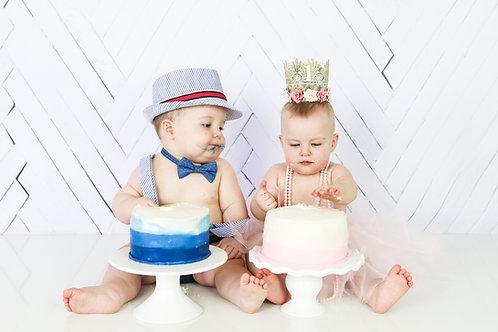Twins One Year Cake Smash