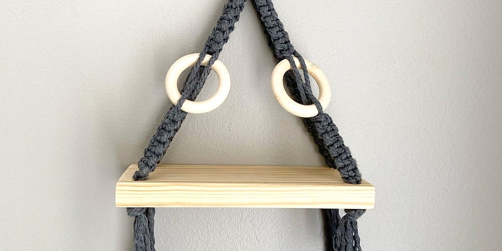 Macrame Hanging Shelf 22JAN