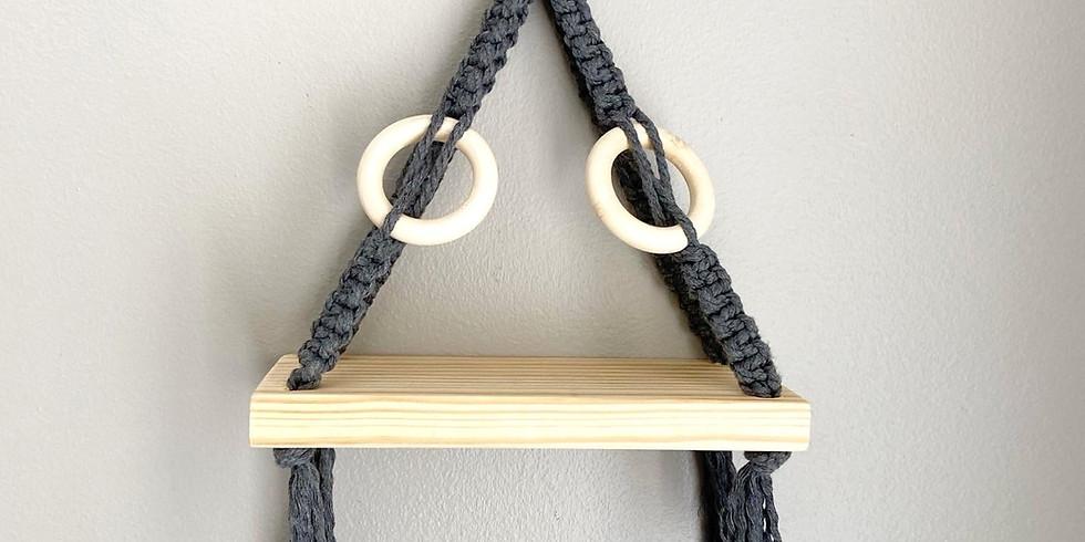 Macrame Hanging Shelf 9Oct