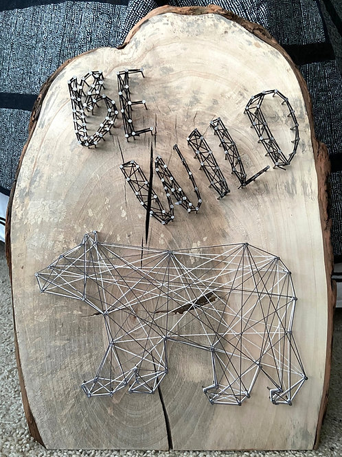 BE WILD Bear String Art Sample