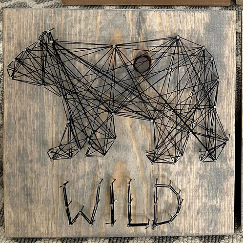 Wild Bear String Art Sample