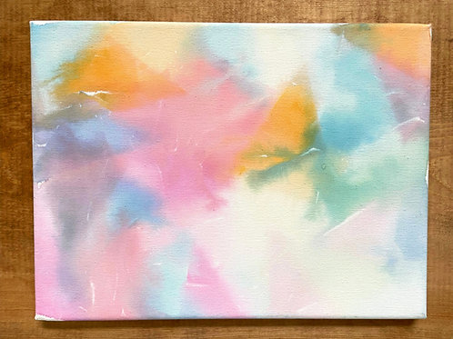 Tissue Paper Canvas Painting @Home
