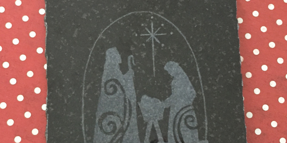"Stone Etching - Nativity 6"" tile 19OCT"