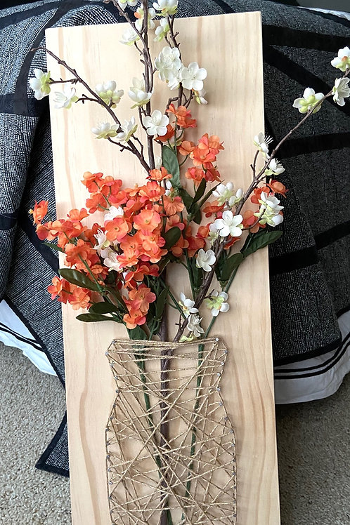 Vase String Art Sample