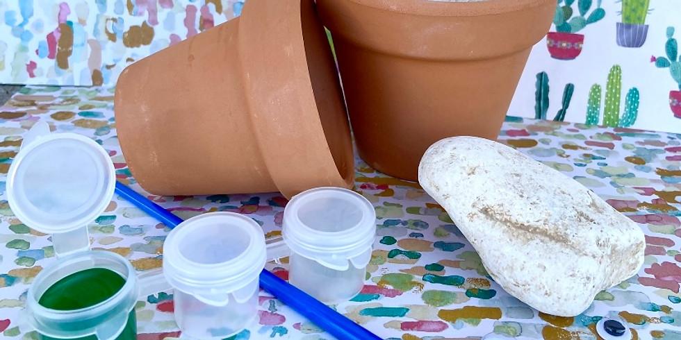Spring Break @ Home Kit! Rock Cactus Kits