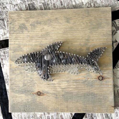 Shark String Art Sample