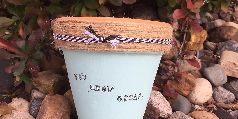 Mini Punny Flower Pots 30May