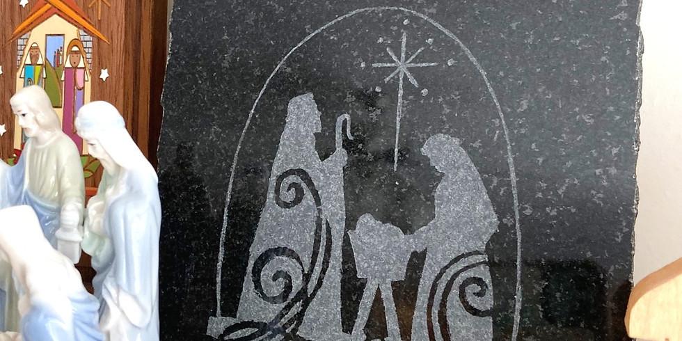 Nativity Stone Etching 4DEC