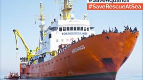 SOS MEDITERRANEE APPELLE A UNE « VAGUE ORANGE CITOYENNE » Sauvons l'Aquarius et le sauvetage en mer!