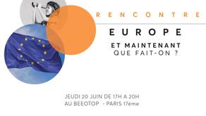 Rencontre avec Le Labo de l'ESS suites aux élections européennes, le 20 juin 2019 de 17h à 20h