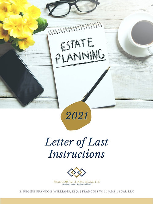 Letter of Last Instructions