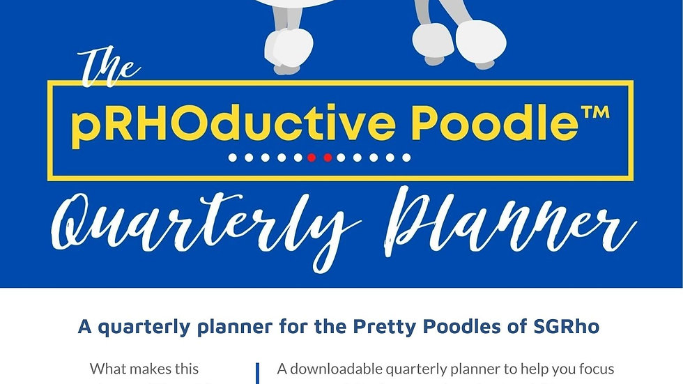 The pRHOductive Poodle Quarterly Planner