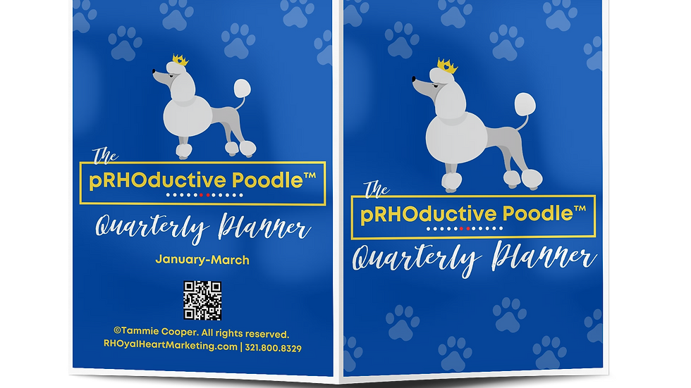 The pRHOductive Poodle Planner (Single Quarter Printed)