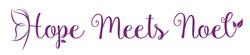 Hope Meets Noel e-commerce business logo