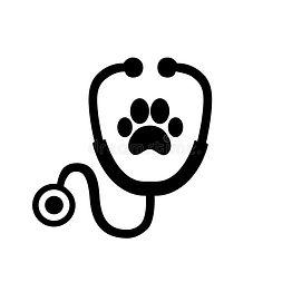 stethoscope-silhouette-animal-paw-print-